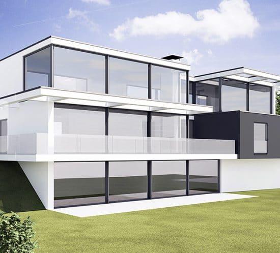 Entwurf moderne Immobilie Bergisch Gladbach · Architekt / Architekturbüro Schopow Köln Bonn, AKNW
