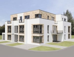 3D Visualisierung Mehrfamilienhaus Wesseling · Architekt / Architekturbüro Köln Dipl.-Ing. Lubov Schopow