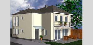3D Visualisierung EFH Wesseling von Architekt / Architekturbüro Köln Dipl.-Ing. Lubov Schopow