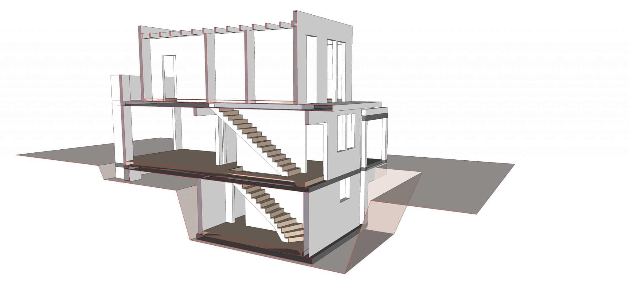 architekturb ro k ln architektin aknw lubov schopow einfamilienhaus kerpen s visualisierung. Black Bedroom Furniture Sets. Home Design Ideas