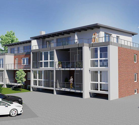 Oberhausen Mehrfamilienhaus Aufstockung Erweiterung Immobilie, Architekturbüro Schopow Köln