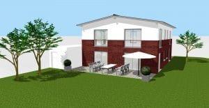 3D Visualisierung ZFH Zweifamilienhaus Weilerswist · Architekt / Architekturbüro Köln Dipl.-Ing. Lubov Schopow